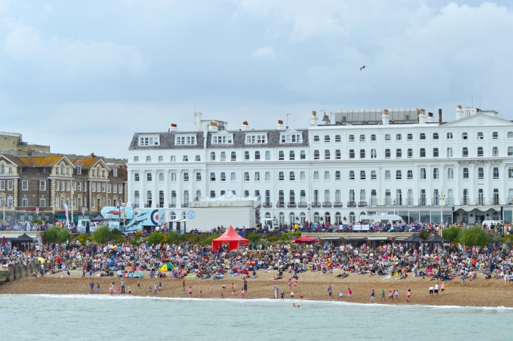 Eastbourne beach during Airbourne 2015